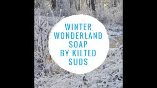 Winter Wonderland Bar Soap - Cold Process Soap - In The Pot Swirl with Embeds