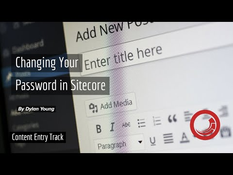 How to Change Your Password in Sitecore