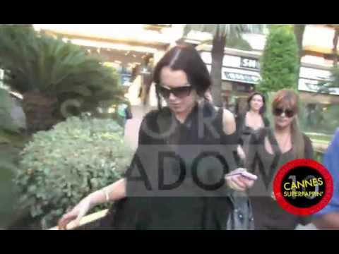 A Mute Lindsay Lohan on a regular day in Cannes