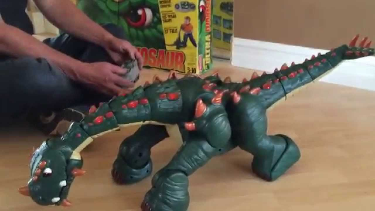 Fisher Price Imaginext Spike The Ultra Dinosaur Green for Sale-2 - YouTube