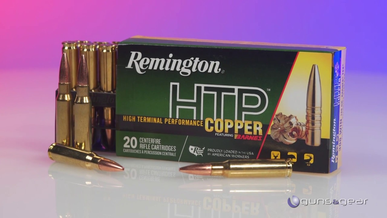 Affordable Remington HTP Copper Ammo loaded with Barnes Bullets: Guns &  Gear| S9 E10