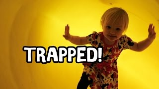 TRAPPED IN A SLIDE! - SIERRA'S 2ND BIRTHDAY