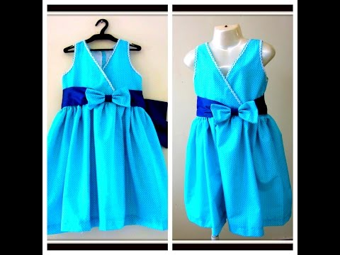 PRETTY FROCK FOR UR PRINCESS- EASY DRAFTING, CUTTING & SEWING FROCK  12