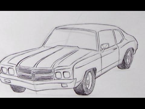 Disegnare Una Macchina Passo A Passo Youtube
