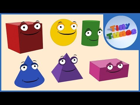 3D Shapes For Kids  Tiny Tunes