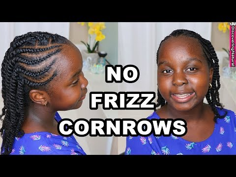 How to Braid Cornrows Without Frizz | Natural Hair | DiscoveringNatural