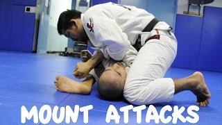MOUNT – 4 ATTACKS: Armbar, Shoulder Lock, Wrist Lock and Omoplata
