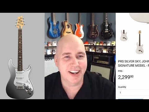 LIVE QA #56 The PRS Silver Sky Strat Style guitar