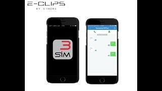 E-Clips - How to make and receive SMS text message with E-Clips Triple Dual SIM active adapter