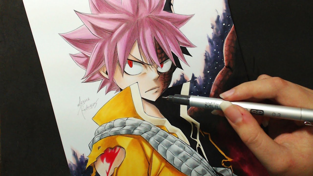 Speed drawing natsu dragneel fairy tail dragon cry - Image de natsu fairy tail ...