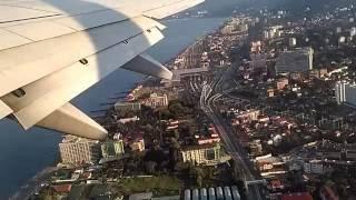 Взлет в городе Сочи ,вид Адлера с самолета.Шикарный вид с неба.