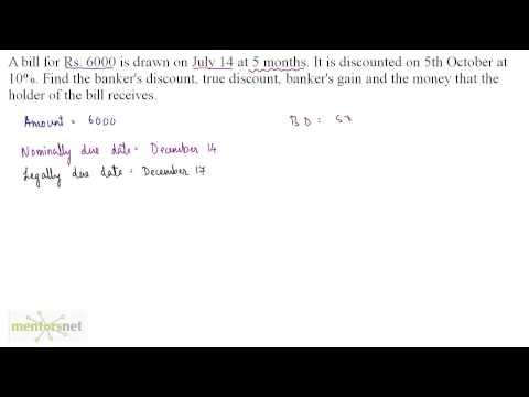 QT 218 Banker Discount Concept