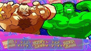 Marvel Super Heroes VS Street Fighter - Zangief/Hulk - Expert Difficulty Playthrough