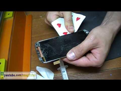Samsung S4 i9500 замена защитного стекла