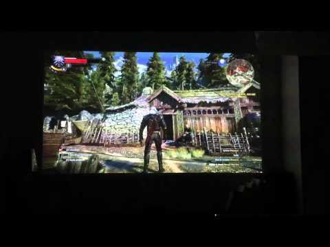Lg Pf1000u Ps4 Test The Witcher 3 Youtube