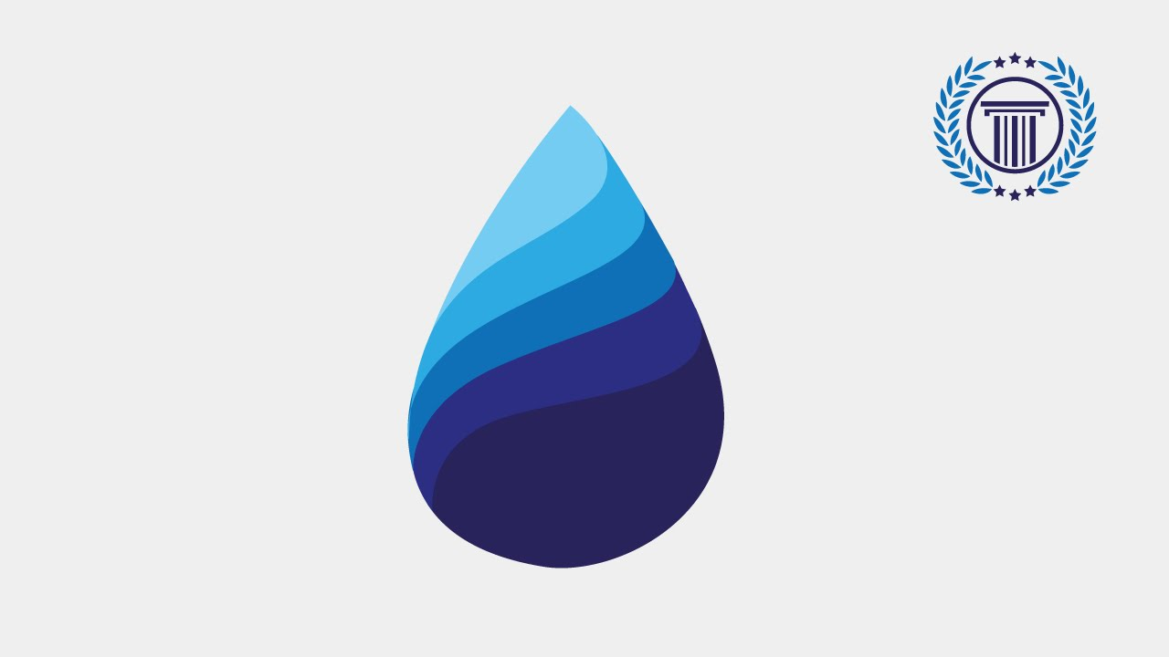 blue water drop logo design tutorial using adobe illustrator cs6
