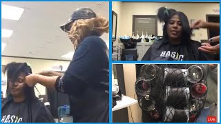 At The Salon Finishing A DOMINICAN ROLLERSET AND BLOWOUT