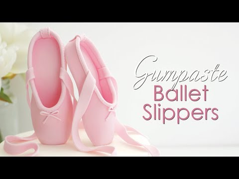 How to make Gumpaste / Fondant Ballet Slippers Cake Topper