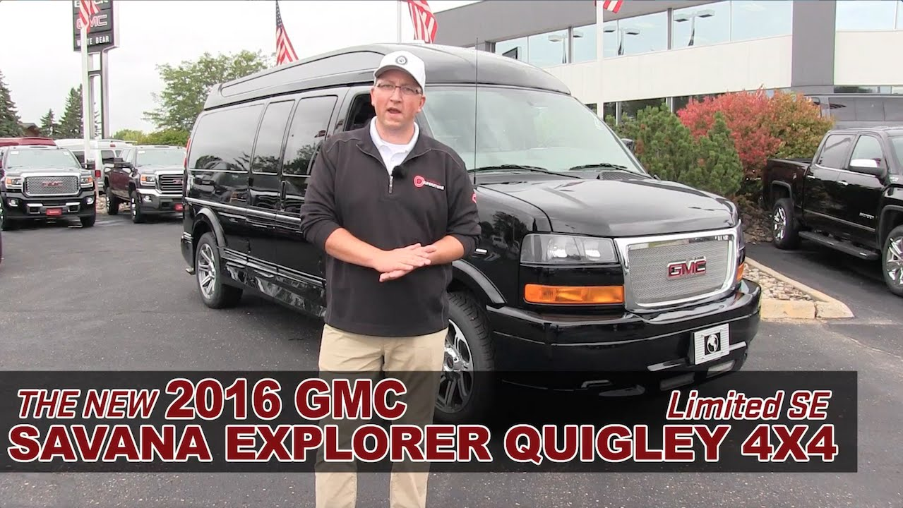 New 2016 GMC Savana Explorer Quigley 4x4 Conversion Van