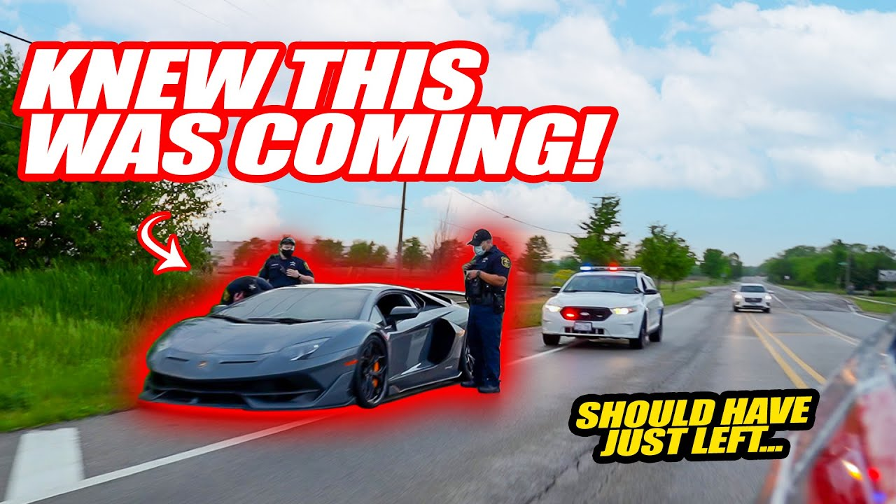 POLICE PULL OVER MY LAMBORGHINI AT OUR FAN MEETUP!! *whoops...lol*