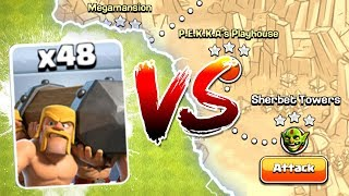 BATTLE RAM vs IMPOSSIBLE SINGLE PLAYER CHALLENGE! - Clash Of Clans