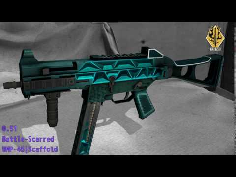 UMP-45 Scaffold - Skin Wear Preview