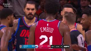 OKC Thunder vs Philadelphia Sixers( Triple OT)   Full Game Highlights  Dec 15, 2017