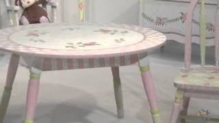 Teamson Kids Crackle Rose Table - Product Review Video