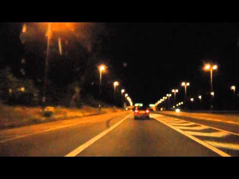 Night Drive On The M57, M62, M6 & M5 Motorways From Liverpool To Worcester, England 7th July 2013