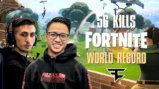 We broke the Fortnite World Record again... (56 Kills)