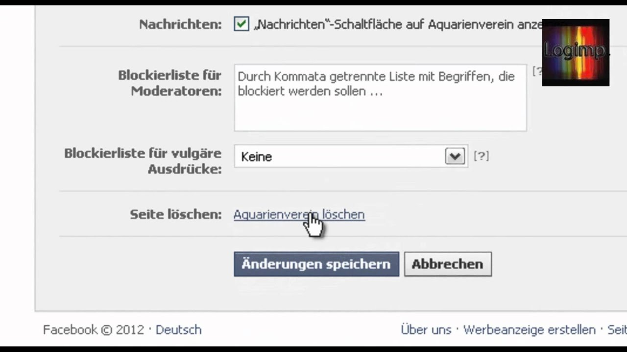 Seiten bei Facebook löschen - YouTube