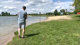 Drazdy Reservoir Zaslawskaye Reservoir in Tsnyanka Region Minsk Belarus 4K