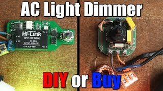 AC Light Dimmer || DIY or Buy || Phase Angle Control Tutorial