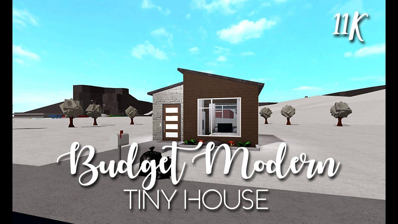 Roblox Bloxburg Budget Tiny Modern House No Gamepasses