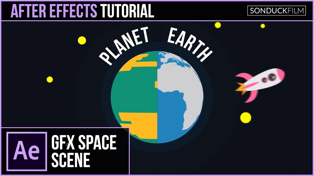 After Effects Tutorial: Create a PLANET Animation & 2D Space Motion