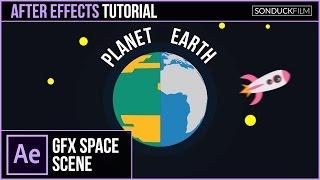 بعد الآثار التعليمي: إنشاء كوكب الرسوم المتحركة و الرسوم المتحركة 2D الفضاء