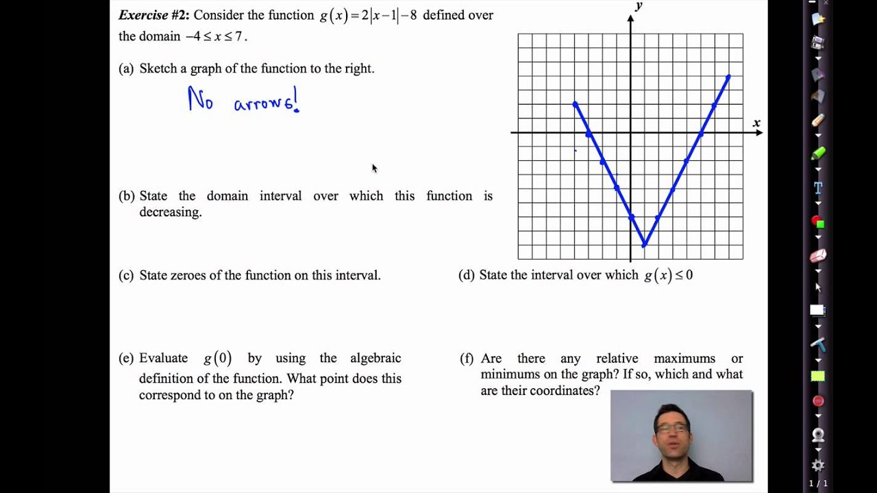 Common Core Algebra Ii Unit 2 Lesson 7 Key Features Of Functions