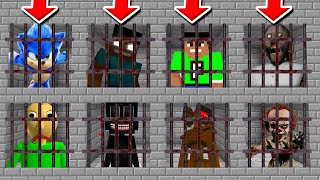 Minecraft PE : DO NOT CHOOSE THE WRONG PRISON! (FuzionDroid, Cartoon Cat, Sonic & Siren head)