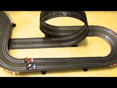 Carrera GO!!! Mario Kart 8 Slot Car Racetrack Set with Toad and Mario Nintendo Loops Curves Bridge