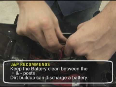 Motorcycle Tech Tip - Battery Maintenance.  Brought to you by J&P Cycles.