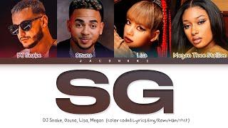 DJ Snake, Ozuna, Megan Thee Stallion, BLACKPINK Lisa SG Lyrics (Color Coded Lyrics)