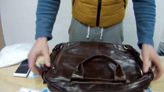 """Мужская сумка 7026Q от магазина """"Семь Сумок"""". Обзор кожаной винтажной сумки-рюкзака"""