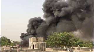 Horrible Fire in  Cotton Factory  at Amdupura , Ahmedabad