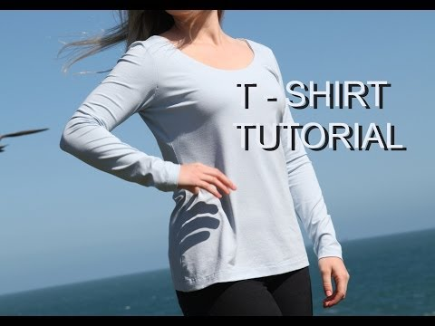 How to sew a T-shirt / Sewing stretch fabric / how to make a