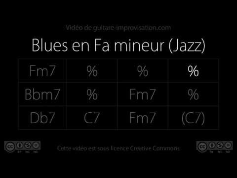 Blues en Fa mineur  130 bpm Jazz : Backing Track