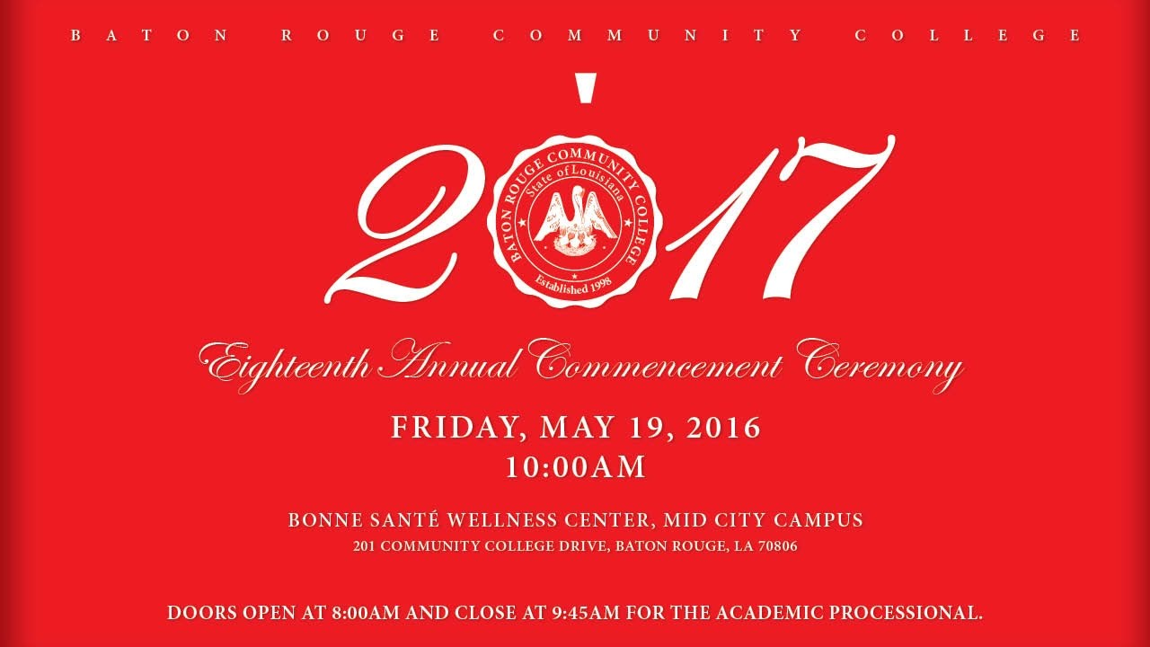 brcc spring 2017 commencement - youtube