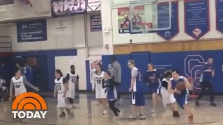Watch: Buzzer Beater Shot Makes Basketball Fans Go Wild | TODAY