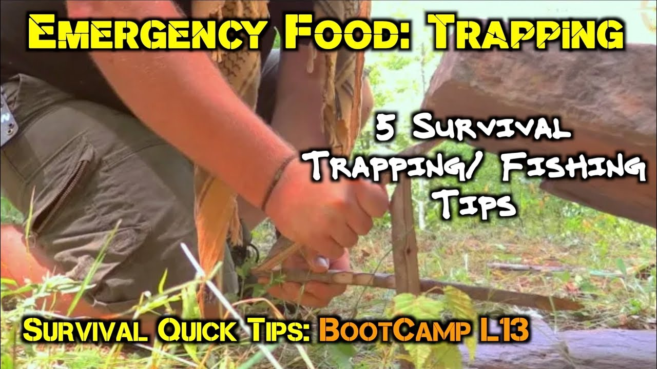 ▶︎ 5 Vital Survival Trapping Tip for Disaster and Emergency Food Preparedness: SQT-13