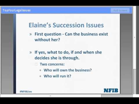 Top Legal Issues Facing Small Business - From Lawyer's Perspective | NFIB Webinar