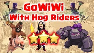 Clash of Clans - GoWiWi with Hog Riders 3 Star TH9 War Attack Strategy